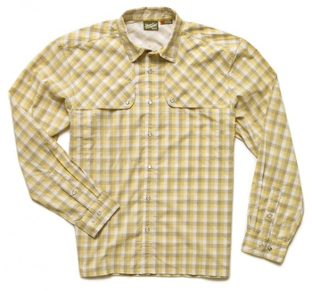 Howler Bros Pescador Shirt Tyson Plaid Lemon Drop