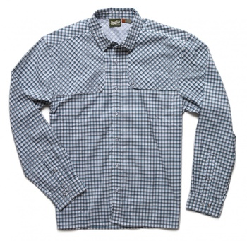 Howler Bros Pescador Shirt Yodeler Plaid Oceanside Blue