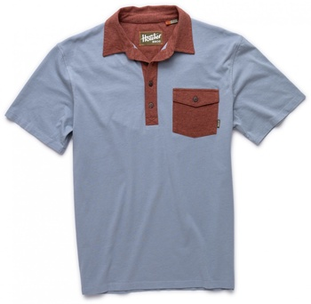 Howler Bros Rookery Polo Easy Blue/Brick