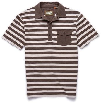 Howler Bros Rookery Polo Earth/Cream Stripe