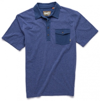 Howler Bros Rookery Polo India Blue Heather/Navy
