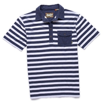 Howler Bros Rookery Polo Sailor Blue/White Stripe
