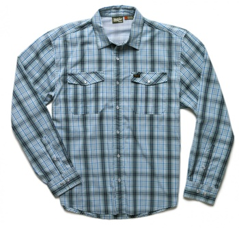 Howler Bros Gaucho Snapshirt Drifter Plaid Chesapeake Blue