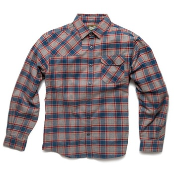 Howler Bros Harker's Flanell Manifest Plaid Heather Grey