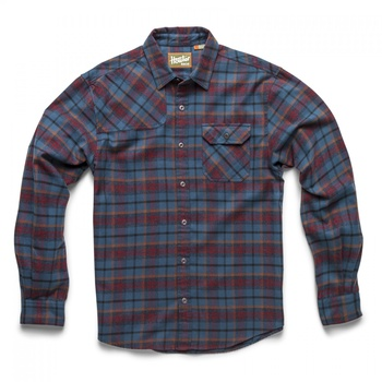 Howler Bros Harker's Flanell Sabine Plaid: Blue/Red