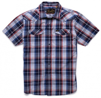 Howler Bros H Bar B Snapshirt- Cosmic Blue Plaid