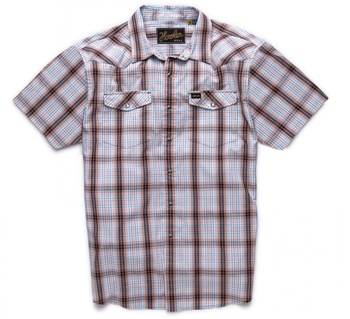 Howler Bros H Bar B Snapshirt- Roper Brown Plaid