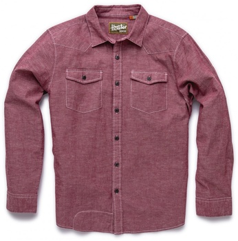 Howler Bros Sheridan Shirt Crimson Chambray