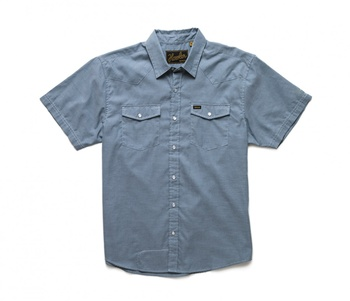 Howler Bros H Bar B Snapshirt  Steel Blue Oxford