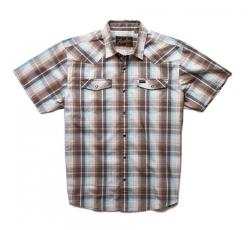 Howler Bros H Bar B Snapshirt Cosmic Plaid Bison