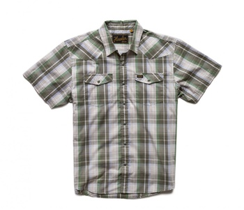 Howler Bros H Bar B Snapshirt Cosmic Plaid Green