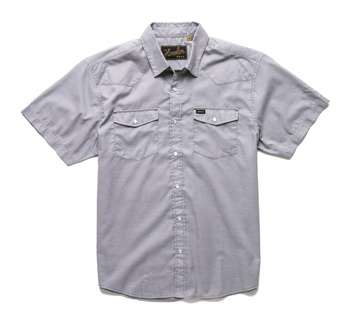 Howler Bros H Bar B Snapshirt Cement Grey Oxford
