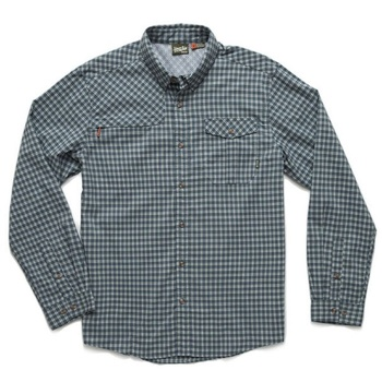 Howler Bros Matagorda Shirt Yodeler Plaid Byte Blue