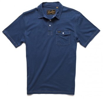 Howler Bros Crockett Polo Officer Blue