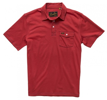 Howler Bros Crockett Polo Chili Red