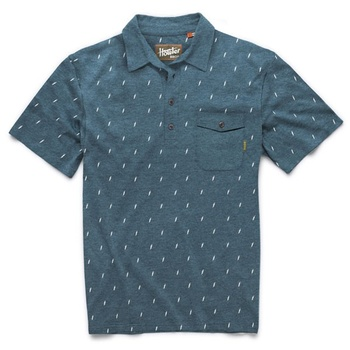 Howler Bros Ranchero Polo Lightning Bolts Royal Heather