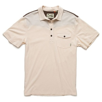 Howler Bros Ranchero Polo Limestone w/ Brown / Gold Yoke