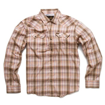 Howler Bros Crosscut Snapshirt Plains Plaid Sawdust
