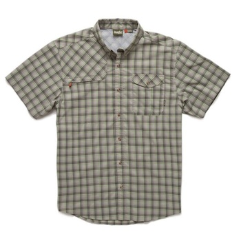 Howler Bros Matagorda Shortsleeve Sadler Plaid Fatigue