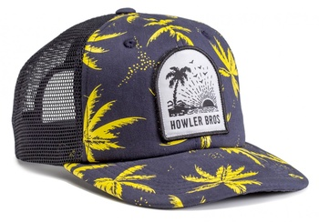 Howler Paradise Crest Snapback Palm Print