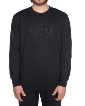 Hooke Company Crewneck Black on Black