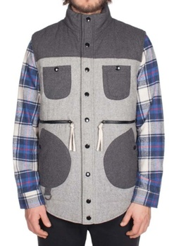 Hooke Miramichi Puffy Vest Grey & Charcoal