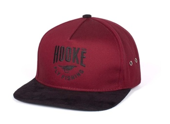 Hooke The Fly Fishing Strap Back Hat Burgundy & Black