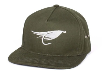 Hooke The Fly Strap Back Hat Military Green