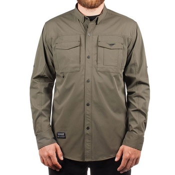 Hooke Fisherman Shirt Military Green
