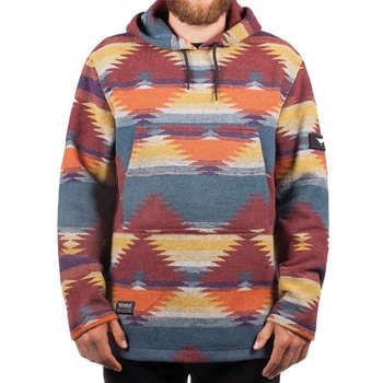 Hooke Navajo Hoodie Red Blue & Orange