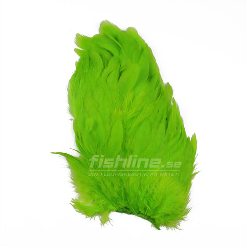 Hen Patches/Soft Hackle - Fl. Green Chartreuse