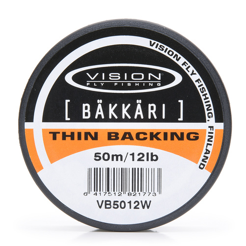 Vision Backing Bäkkäri White - 12lb/50m