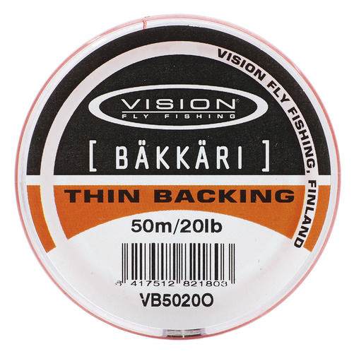 Vision Backing Bäkkäri Orange - 20lb/50m