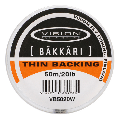 Vision Backing Bäkkäri White - 20lb/50m
