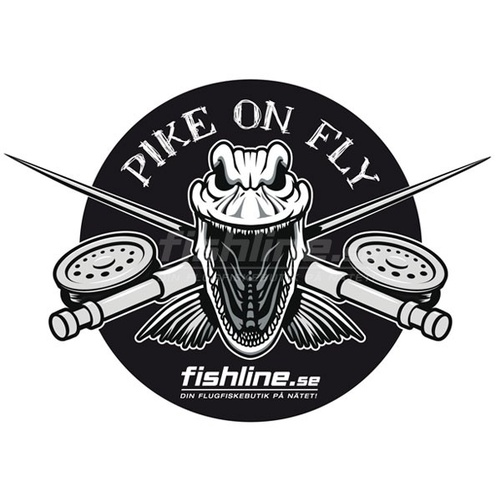 Fishline Pike on Fly sticker