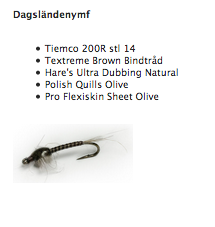 Fly Tying Box - Dagsländenymf