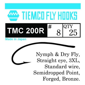 Tiemco 200R Nymph & Dry Fly 20-pack