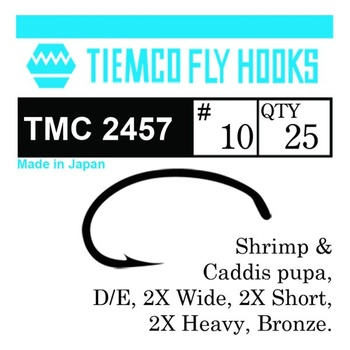 Tiemco 2457 Shimp/Caddis 20-pack