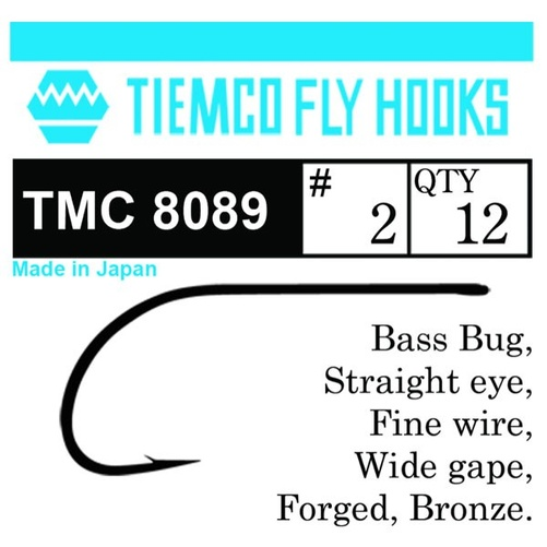 Tiemco 8089 Bass Bug 10-pack - #10
