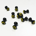 Double Pupil Lead Eyes - Black/Yellow/Black