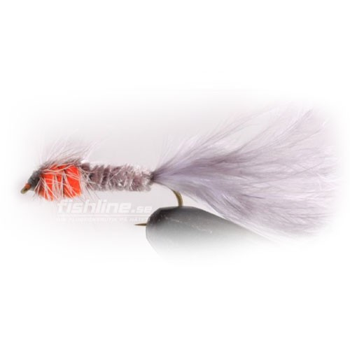 Montana Grå/Orange streamer size 8