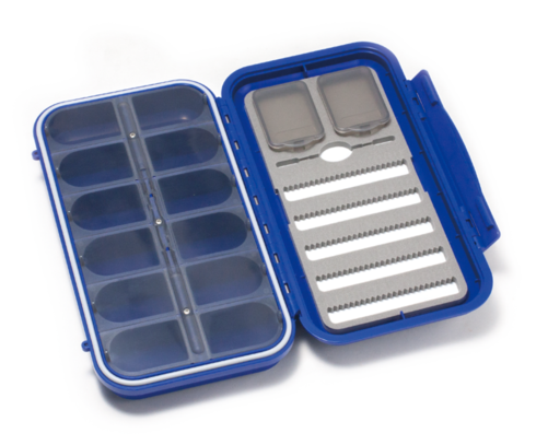 C&F Design Large 5-Row Dry & Nymph WP Fly Case w 12 Comp (CF-3305N) Blue