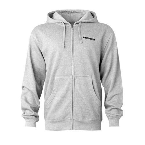 Sage Heritage Zip Hoodie Heather Grey - M