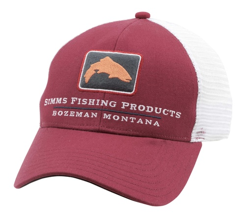 Simms Trout Icon Trucker Rusty Red
