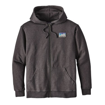 Patagonia Men's Shop Sticker Patch Midweight Full-Zip Black Hood