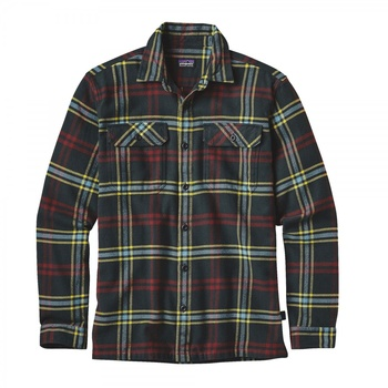 Patagonia Men's Long-Sleeved Fjord Flannel skjorta Windrow Carbon