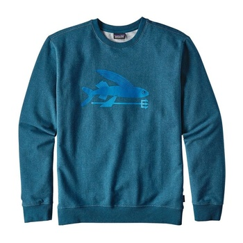 Patagonia Men's Flying Fish Midweight Crew Sweatshirt Big Sur Blue