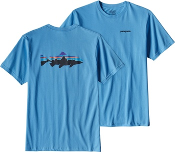 Patagonia Men's Fitz Roy Trout T-Shirt Skipper Blue