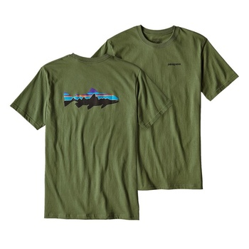 Patagonia Men's Fitz Roy Trout T-Shirt Fatigue Green