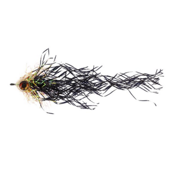Mylar Pike Black/Root Beer Hook